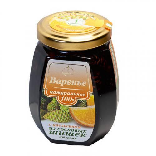 Варенье с апельсином из сосновых шишек 250гр Артикул: 7013