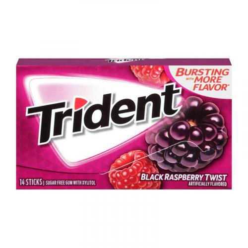 Trident Black Raspberry Twist Жевательная резинка Артикул: 5960
