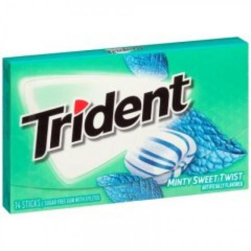 Trident Minty Sweet Twist Жевательная резинка Артикул: 7178