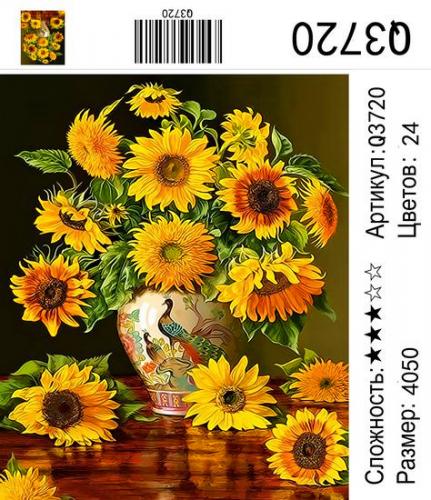 Q3720 Картины-раскраски по номерам 40х50