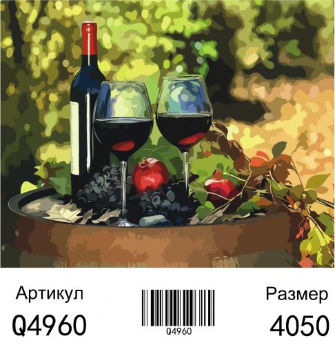 Q4960 Картины-раскраски по номерам 40х50