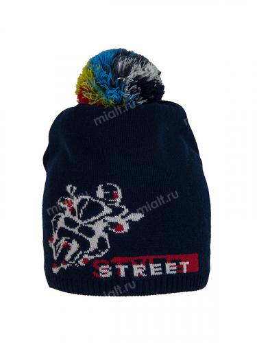 Шапка Street style с помпоном