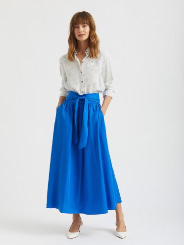 Широкая юбка миди