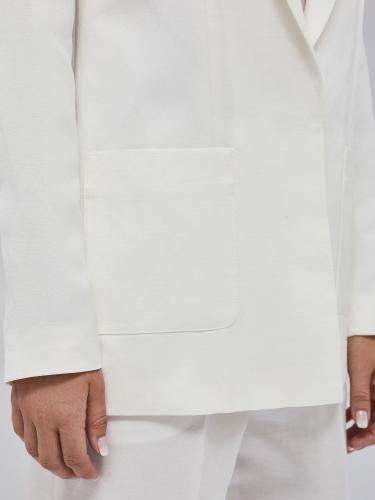 Жакет из льняной ткани