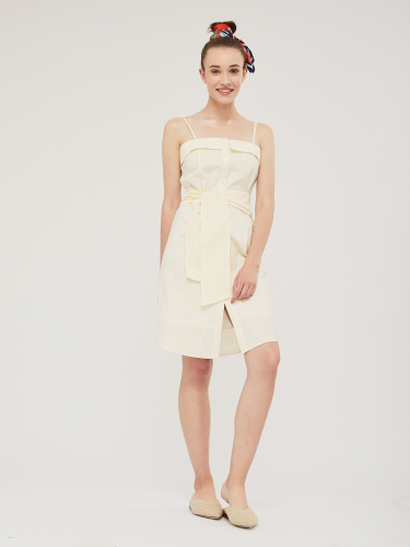 Платье в полоску на бретелях