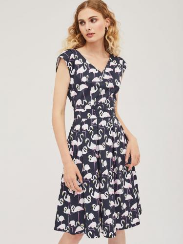 Хлопковое платье с принтом