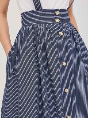 Хлопковая юбка с пуговицами