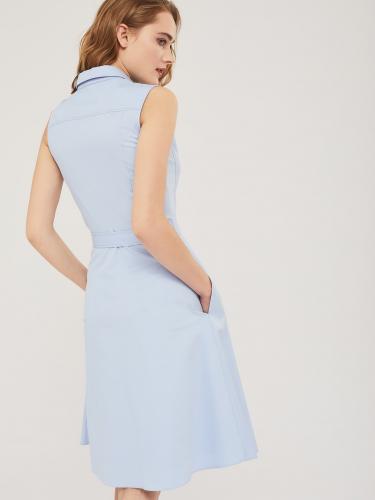 Хлопковое платье с шевроном