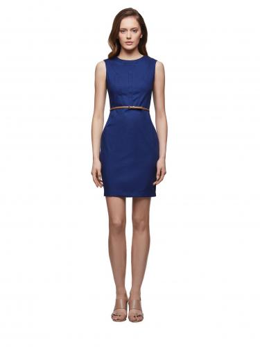 Платье-футляр из хлопка