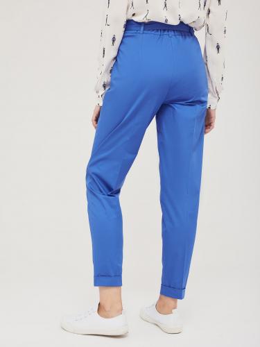 Хлопковые брюки с отворотами
