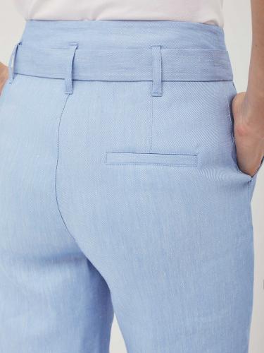 Широкие брюки из льняной ткани