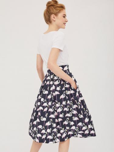 Хлопковая юбка со складками