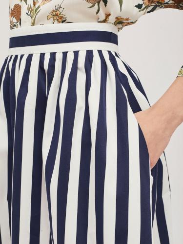 Хлопковая юбка в широкую полоску