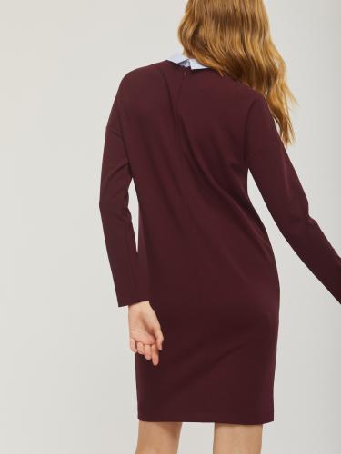 Платье с классическим воротником
