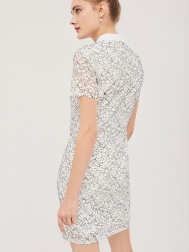 Кружевное платье с шифоновым бантом