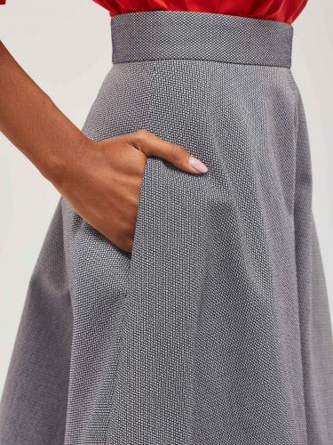 Расклешённая юбка-миди