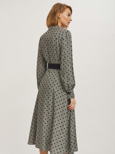 Платье миди с поясом
