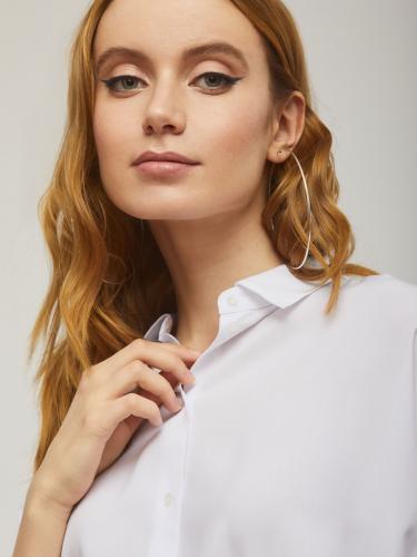 Блуза с объемными рукавами из вискозы