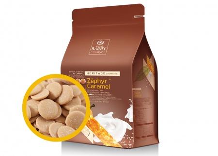 Белый карамелизированный шоколад 35% ZEPHYR CARAMEL Cacao Barry