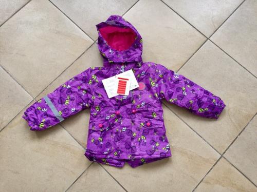 Демисезонная мембранная куртка Tornado цвет Cute Violet Birds р. 92/98