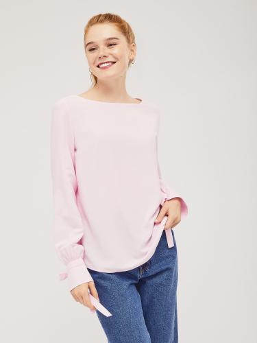 Блуза с завязками на манжетах