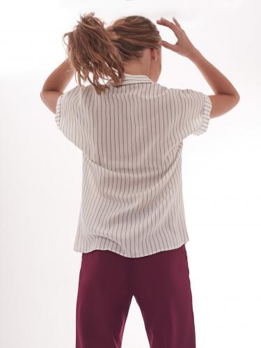 Блуза с короткими рукавами