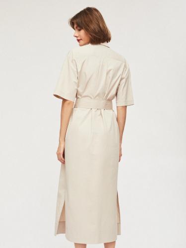 Платье из хлопка в стиле сафари