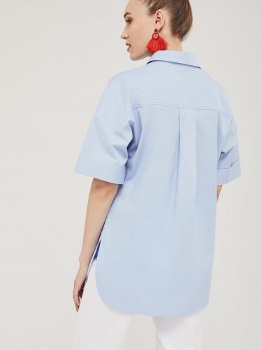 Удлинённая рубашка из плотного хлопка