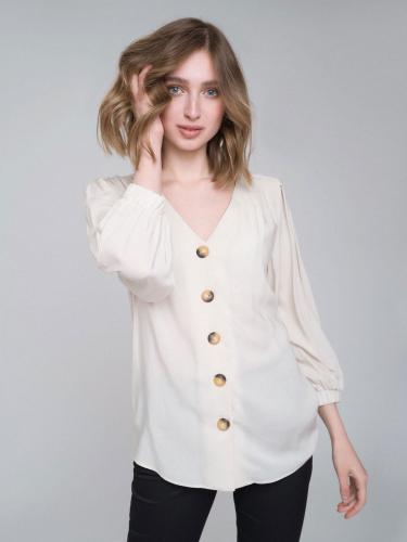 Блуза с объемными рукавами