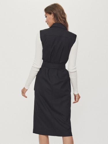Платье-жилет с поясом