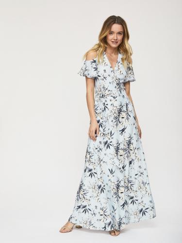 Платье из струящейся ткани с запахом