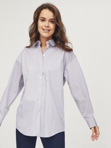 Рубашка оверсайз с карманом