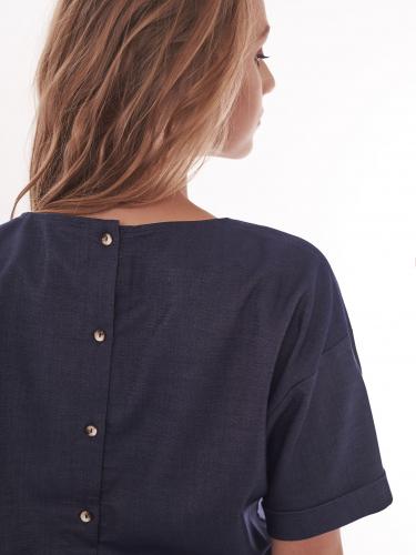 Блуза из поливискозы с шевроном