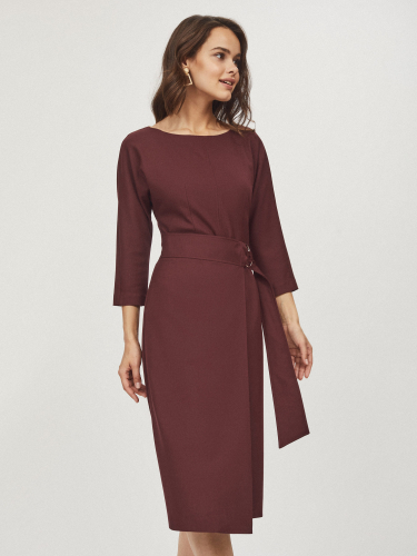 Платье с юбкой на запах