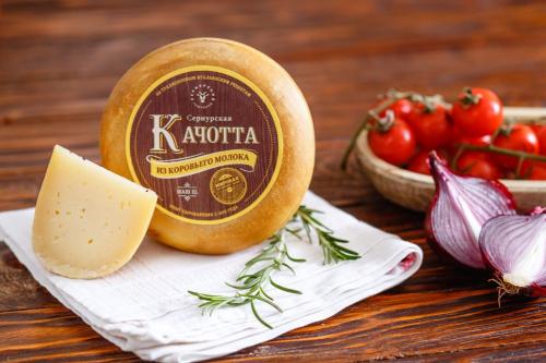 Сыр Сернурская Качотта из коровьего молока, мини головка 1 кг _ цена за 1 кг 1020 руб