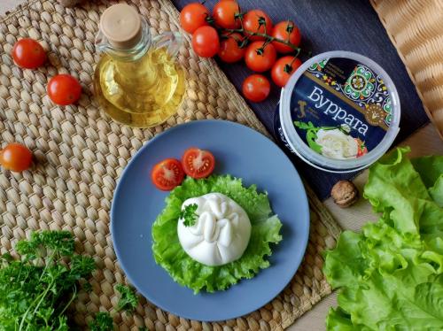 Буррата фас. 170 г (40%), сыр из коровьего молока  ( Заказ в шт)