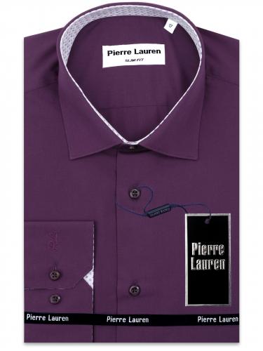 0186TESF Приталенная мужская рубашка с длинным рукавом Elegance Slim Fit