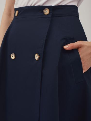 Двубортная юбка с карманами