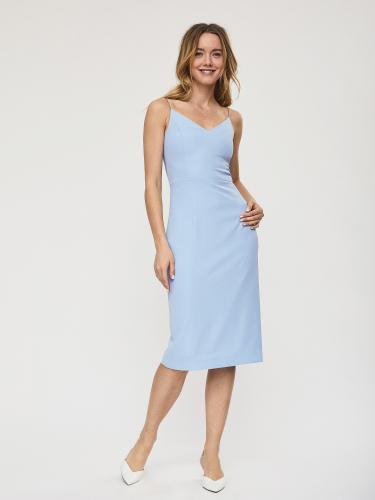 Платье на тонких бретелях со съемным поясом