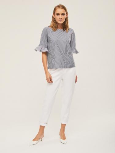 Блуза свободного кроя в полоску