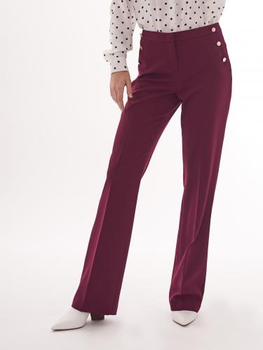 Прямые брюки с пуговицами