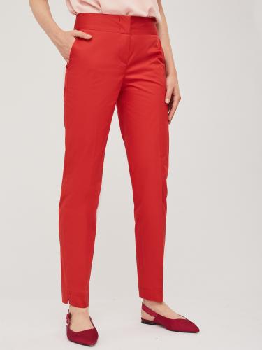 Зауженные брюки с поясом-кокеткой