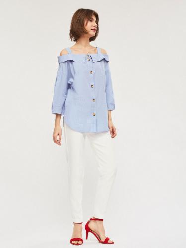 Свободная блуза из хлопка