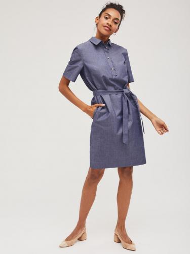 Хлопковое платье-поло