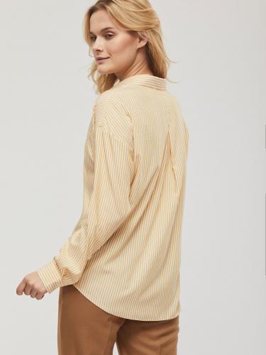 Блуза прямого силуэта в полоску
