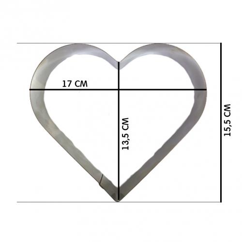 Форма металлическая Сердце для выпечки 17*15,5 см h=5 см