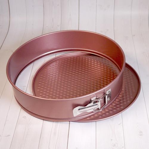 Форма для выпечки со съемным дном Caramella розовая КРУГ 28 см