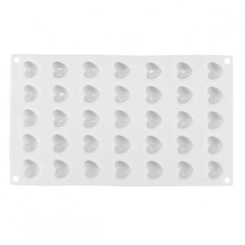 Форма для муссовых десертов Сердца MLoves 35 ячеек, Silikolove