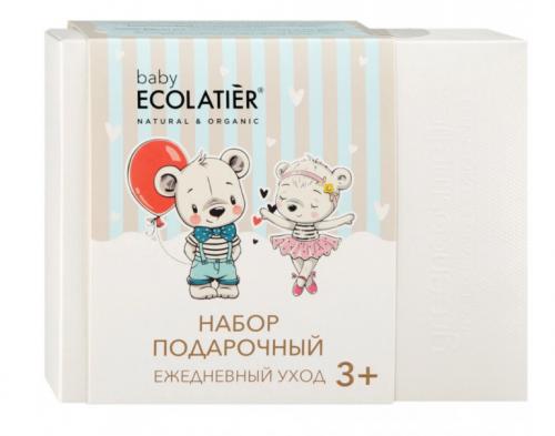 ECL Подарочный набор ECOLATIERR Pure BABY 3+, шампунь2в1 150 мл+молочко с пантенолом 150 мл