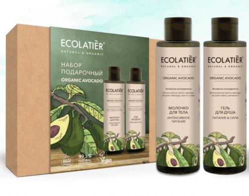 ECL Подарочный набор ECOLATIERR Organic AVOCADO,гель д/д200 мл+молочко д/т 200 мл